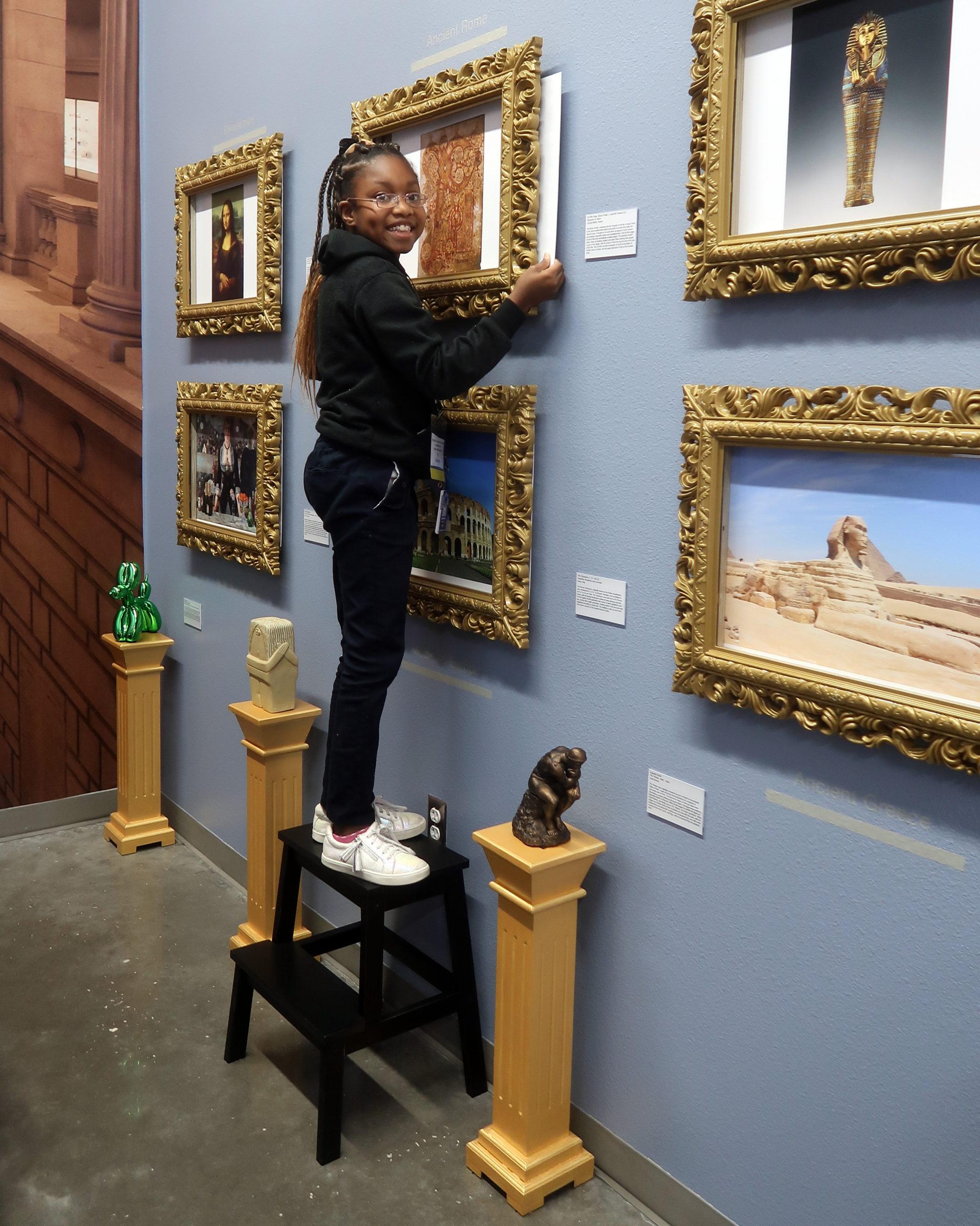 Girl at BizTown Art Museum